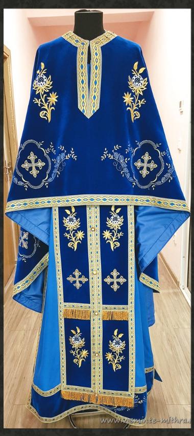 Vesmant Preotesc Brodat Catifea Cat 1250 M129