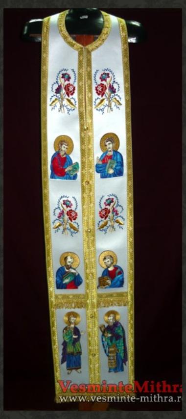 Epitrahil brodat Apastoli si Evanghelisti Cat 1000 M10