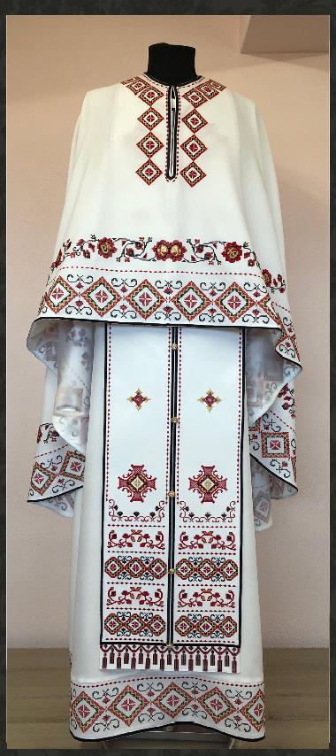 Vesmant Preotesc Tradiţional Brodat Cat 2500 M145