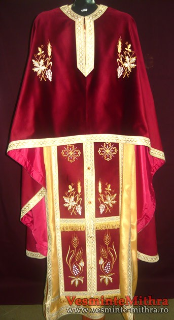 Vesmant Preotesc Brodat Catifea Cat 1100 M36